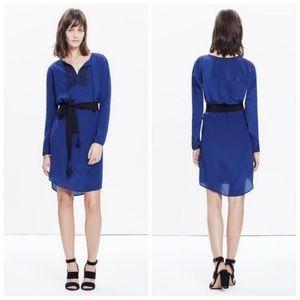 Madewell Blue Silk Tunic Dress